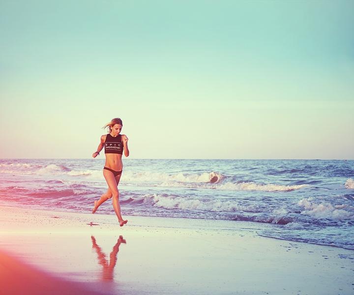 running-woman-sunset