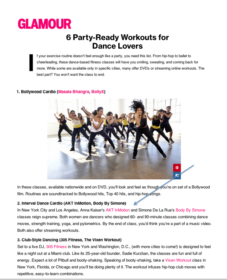 Glamour Party Ready Workouts