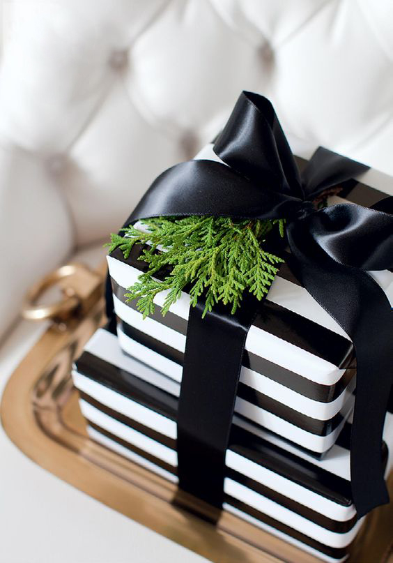 15-black-and-white-striped-paper-black-ribbon-and-fresh-greenery