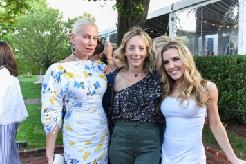 BRIDGEHAMPTON, NY - JULY 29: Jennifer Fisher, Pam Murphy and Anne Kaiser attend The Daily Summer x American Express Platinum MidSummer Soiree Hosted by Pamela Schein Murphy of The Select Seven on July 29, 2017 in Bridgehampton, New York. (Photo by Presley Ann/Patrick McMullan via Getty Images)