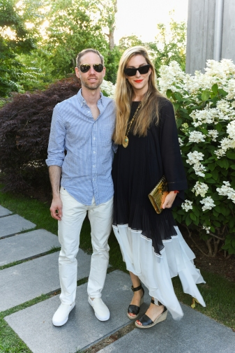 BRIDGEHAMPTON, NY - JULY 29: Aram Green and Joanna Hillman attend The Daily Summer x American Express Platinum MidSummer Soiree Hosted by Pamela Schein Murphy of The Select Seven on July 29, 2017 in Bridgehampton, New York. (Photo by Presley Ann/Patrick McMullan via Getty Images)
