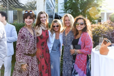 BRIDGEHAMPTON, NY - JULY 29: Susan Mendel, Anastasia Ellis, Dana Rosen, Becky Anderson and Oliva Howard attend The Daily Summer x American Express Platinum MidSummer Soiree Hosted by Pamela Schein Murphy of The Select Seven on July 29, 2017 in Bridgehampton, New York. (Photo by Presley Ann/Patrick McMullan via Getty Images)