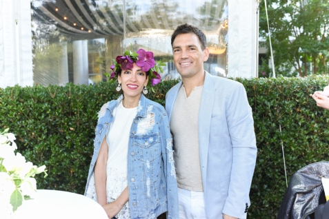 BRIDGEHAMPTON, NY - JULY 29: Hipaa Abedin and Carlos K. Wesley attend The Daily Summer x American Express Platinum MidSummer Soiree Hosted by Pamela Schein Murphy of The Select Seven on July 29, 2017 in Bridgehampton, New York. (Photo by Presley Ann/Patrick McMullan via Getty Images)